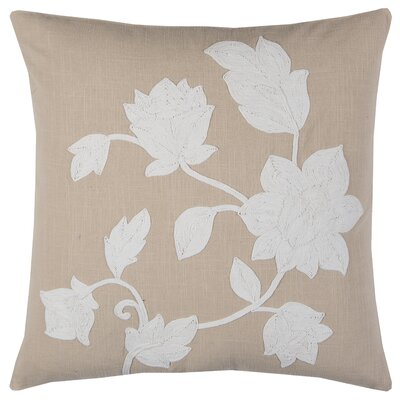 Blooming Applique Pillow Cover