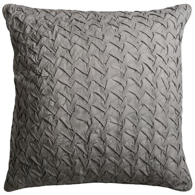 Lilas Cotton Voile Throw Pillow Color: Dark Gray