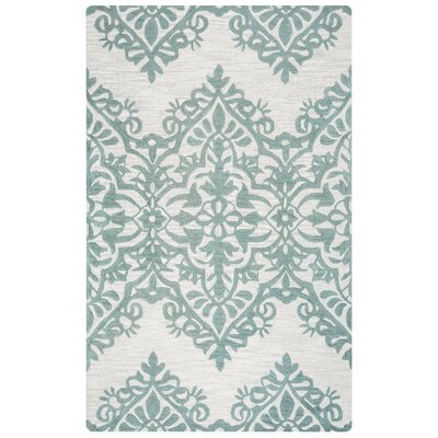 Freeman Hand-Woven Wool Ivory/Gray Area Rug Size: Rectangle 5 x 8