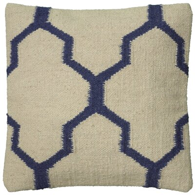 Becca Decorative Pillow Cover Color: Parchment/Blue
