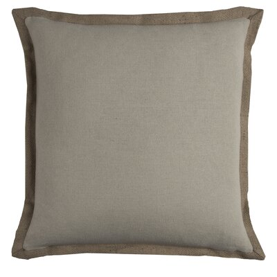 Shayna Jute Trim Pillow Cover Color: Khaki