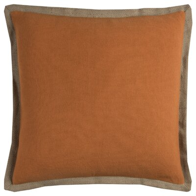 Shayna Jute Trim Pillow Cover Color: Orange