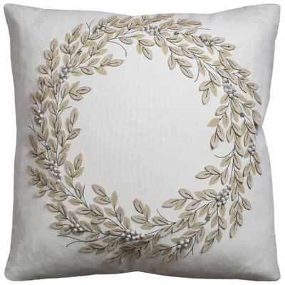 Winter Wreath Throw Pillow
