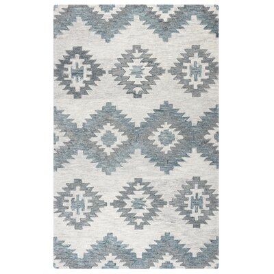 Brandon Gray Hand-Woven Wool Area Rug Rug Size: Rectangle 5 x 8