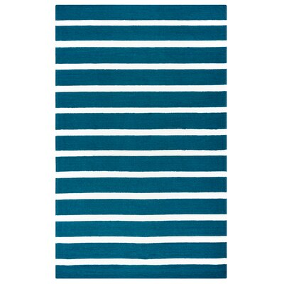 Harney Dark Blue Indoor/Outdoor Rug Size: 9 x 12