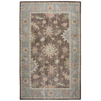 Jarvis Rust/Blue Rug Rug Size: 5 x 8