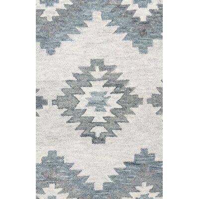 Brandon Gray Hand-Woven Wool Area Rug Rug Size: Rectangle 26 x 8