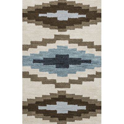 Upper St. Vrain Hand-Tufted Wool Ivory & Cream/Brown Area Rug Rug Size: Runner 26 x 8