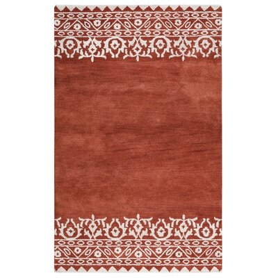 Ezra Red Rug Rug Size: Rectangle 9 x 12