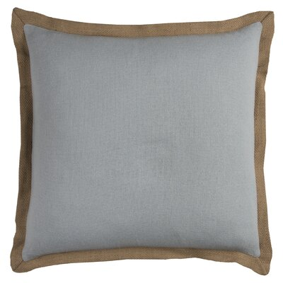 Shayna Jute Trim Pillow Cover Color: Aqua