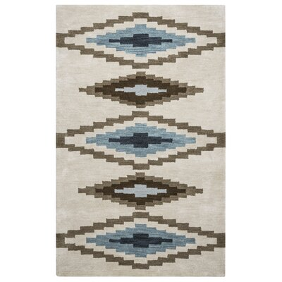 Upper St. Vrain Hand-Tufted Wool Ivory & Cream/Brown Area Rug Rug Size: Rectangle 5 x 8