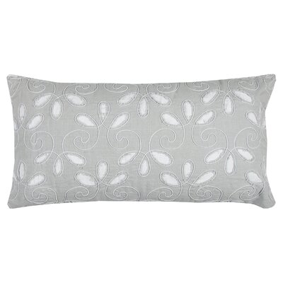 Jessie Lumbar Pillow Cover Color: Aqua/White