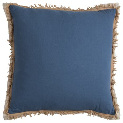 Fringed Pillow Cover Color: Stratosphere