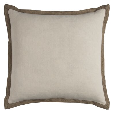 Shayna Jute Trim Pillow Cover Color: Natural