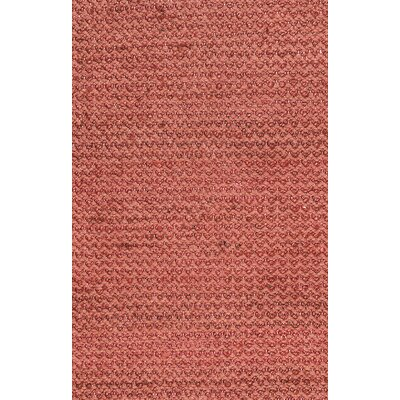 Waverley Hand-Woven Red Area Rug Size: Rectangle 8 x 10