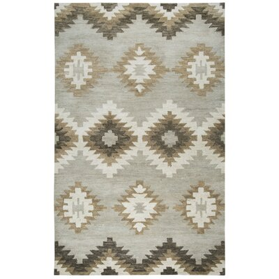 Brandon Hand Tufted Brown Area Rug Rug Size: 5 x 8