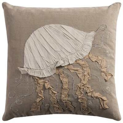 Jellyfish Applique Pillow Cover