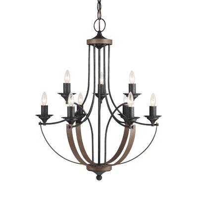 Camilla 9-Light Candle-Style Chandelier