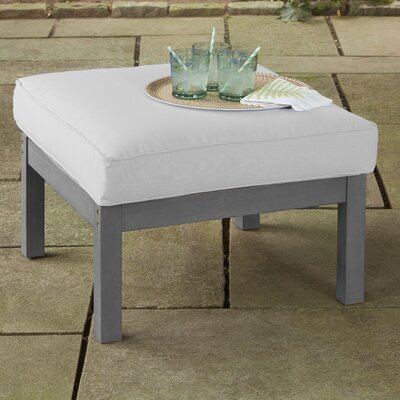 Rossi Ottoman with Cushion Fabric: White