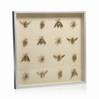 Swarm of Insects Shadow Box Wall Décor