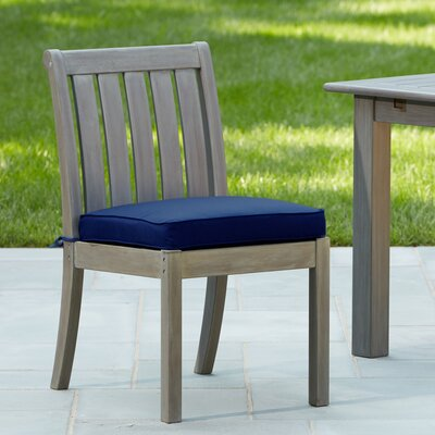 Rossi Dining Chair with Cushion Fabric: Navy
