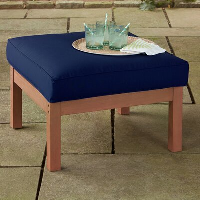 Rossi Ottoman with Cushion Fabric: Navy