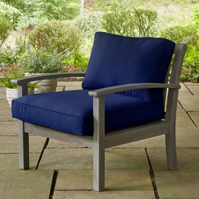 Rossi Lounge Chair with Cushions Fabric: Navy