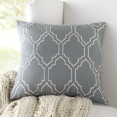 Lacey Linen Pillow Cover Size: 20 H x 20 W x 1 D, Color: Storm Blue