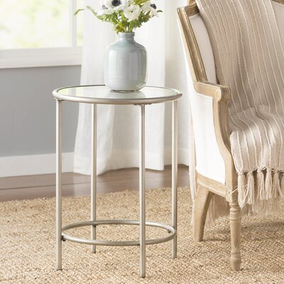 Harlan Round End Table - 1 Glass Shelf