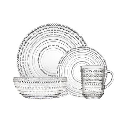 Gillingham 16 Piece Dinnerware Set, Service for 4