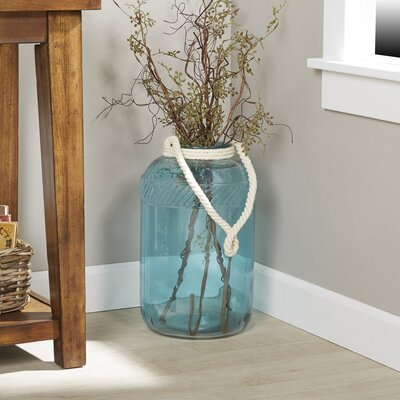 Riva Handled Glass Jar Color: Spa