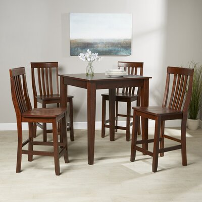 Olsen 5-Piece Pub Dining Set Finish: Vintage Mahogany