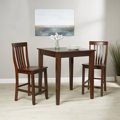 Olsen 3-Piece Pub Dining Set Finish: Vintage Mahogany