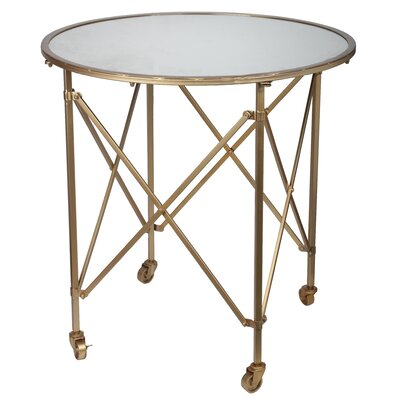Minot Side Table Color: Gold