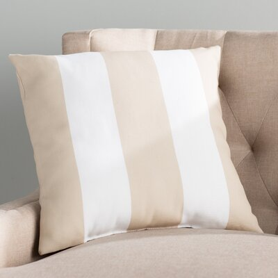 Moira Polyester Throw Pillow Color: Blue & White, Size: 18 H x 18 W x 4 x D