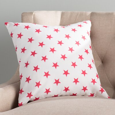 Starry Skies Throw Pillow Color: Red, Size: 20