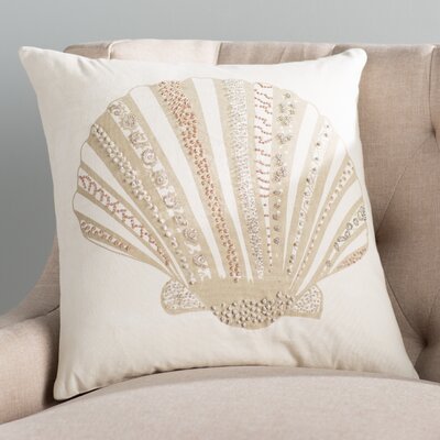 Seashell Beaded Pillow Cover