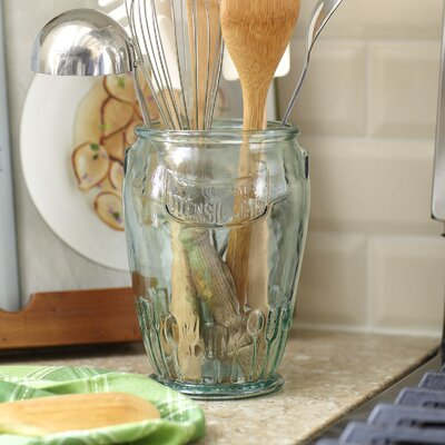 Stockton Recycled Glass Utensil Jar
