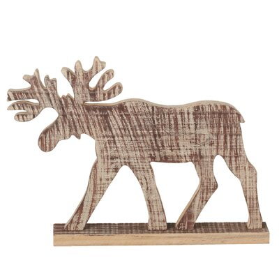 Wooden Moose Silhouette (Set of 2)