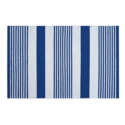 Blue & White Area Rug