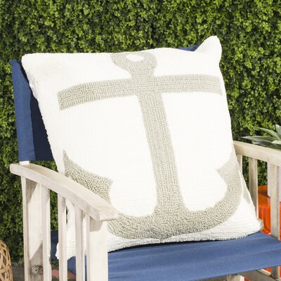 Captains Hooked Pillow Color: White / Tropical L. Grey