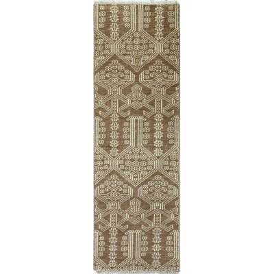 Artifact Hand-Knotted Rust Area Rug Rug Size: Runner 26 x 8