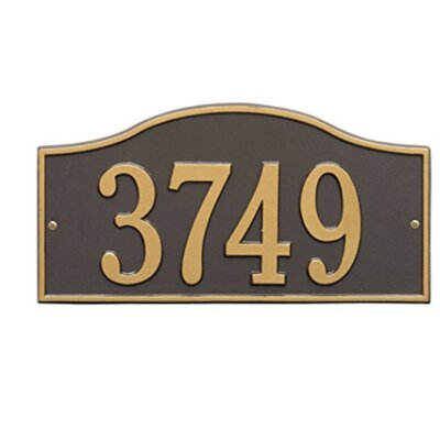 Rolling Hills Address Plaque Finish: Bronze and Gold