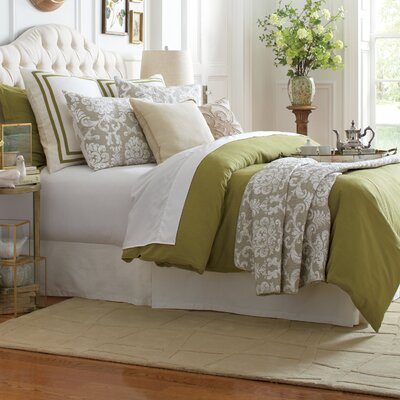 Lola 3 Piece Duvet Set Size: Queen, Color: Fern