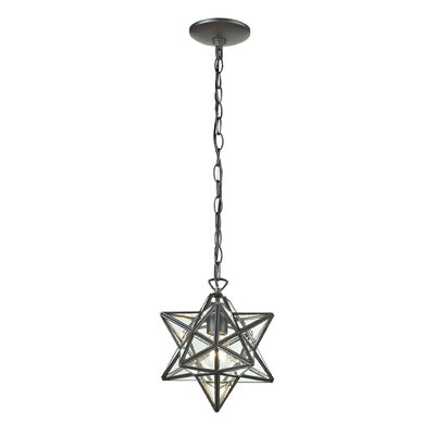 Charlton 1-Light Foyer Pendant Finish: Clear, Size: 12 H x 11 W x 11 D