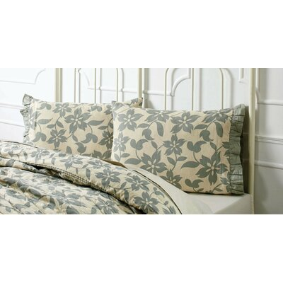 Kim Pillowcases Color: Sage