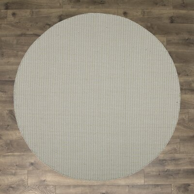 Iggy Hand-Woven Cotton Olive Area Rug Rug Size: Round 6