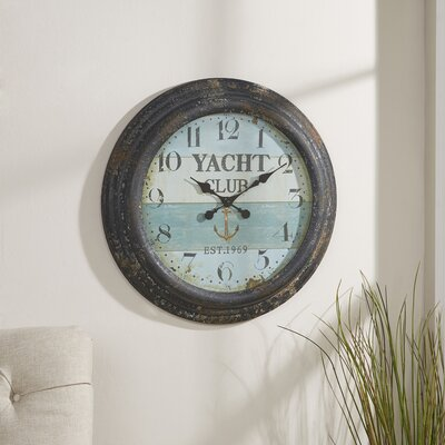 Yacht Club Oversized Wall Clock