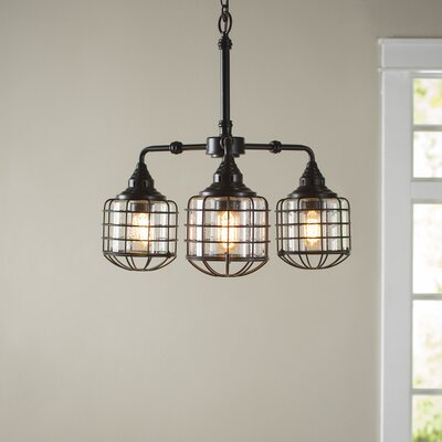 Gaskell 3-Light Shaded Chandelier