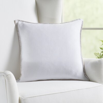 Vann Linen Pillow Color: White